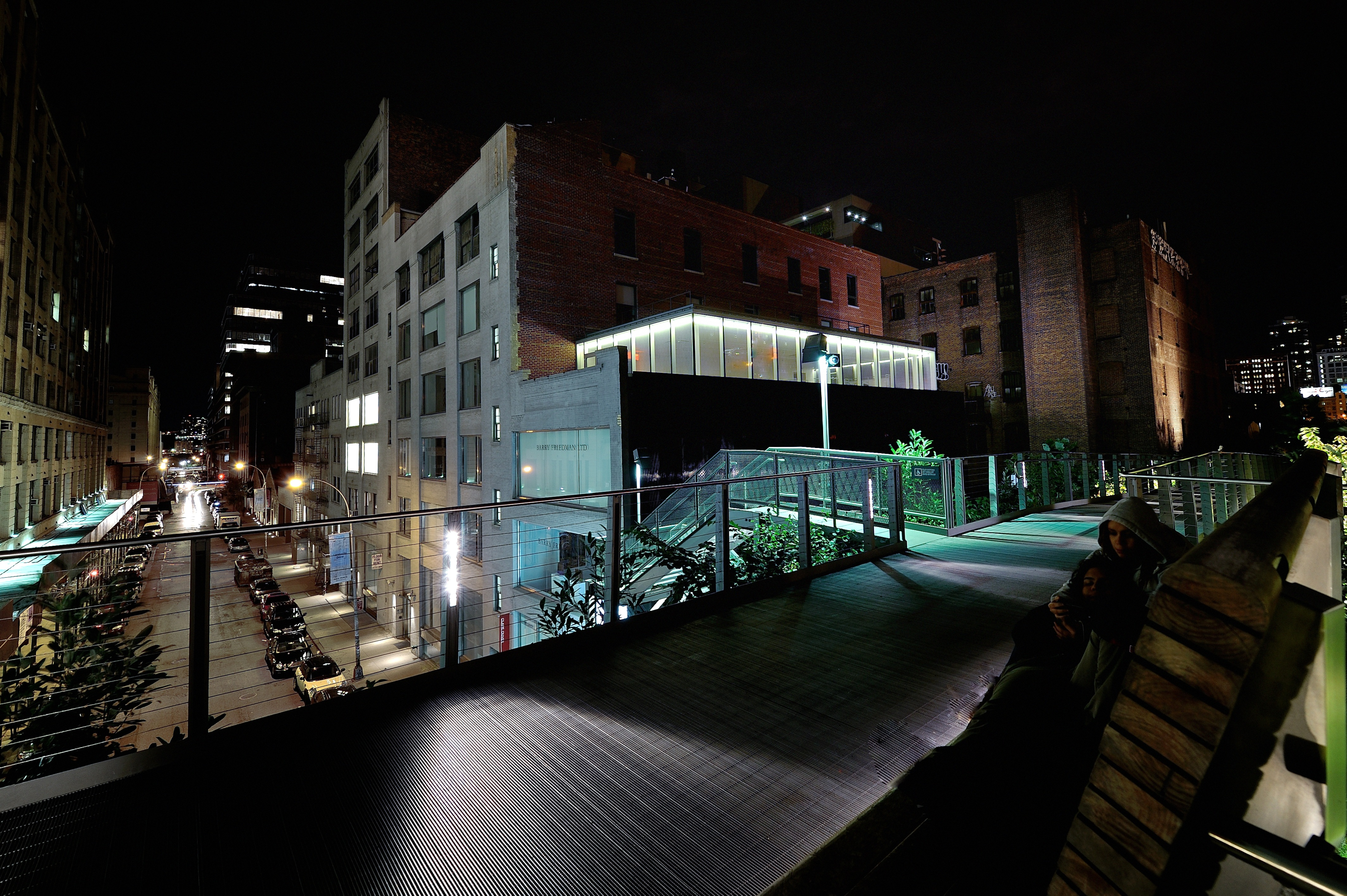 513 West 26th Street Rooftop from the High Line-Nighttime