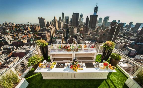 The Rooftop Lounge Soaked at the Mondrian Soho