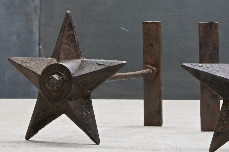 18th Century Masonry Star Anchor Plate and Tie Rod