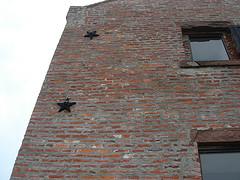 Masonry Star Anchor Plate on a building