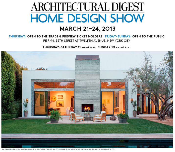 Can't Miss: Architectural Digest Home Design Show - Renovating NYC on new york loft interior design, high end home design, novogratz home design,
