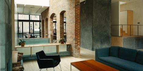 Converted loft space renovation. Washington Street, New York City